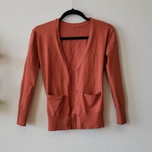 Cardigan with elbow patches size small